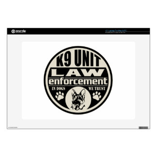 K9 Unit In Dogs We Trust (Black) Laptop Decal