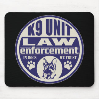 K9 Unit In Dogs We Trust Blue Mouse Pad