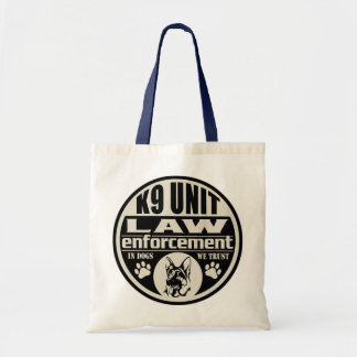 K9 Unit In Dogs We Trust Budget Tote Bag