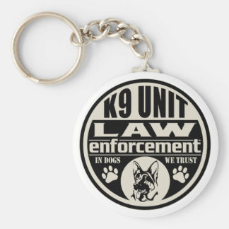K9 Unit In Dogs We Trust Keychain