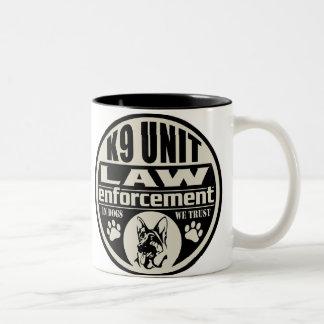 K9 Unit In Dogs We Trust Two-Tone Coffee Mug
