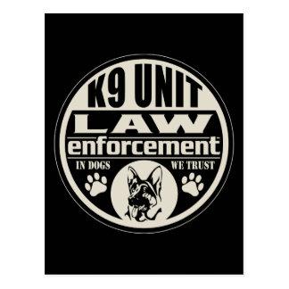 K9 Unit In Dogs We Trust Postcard