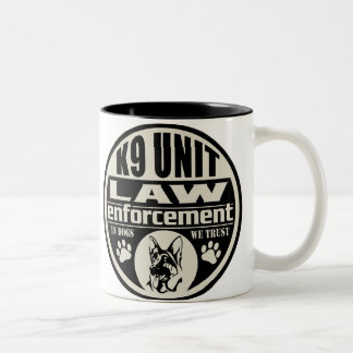 K9 Unit In Dogs We Trust Two-Tone Coffee Mug