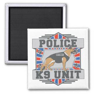 K9 Unit Police German Shepherd 2 Inch Square Magnet