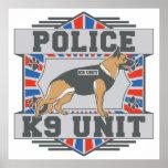 K9 Unit Police German Shepherd Print