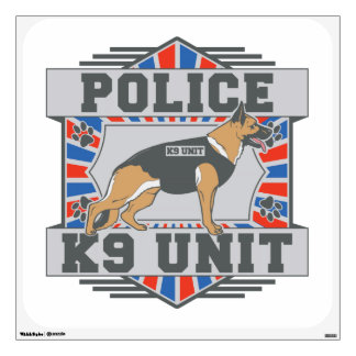 K9 Unit Police German Shepherd Wall Decal