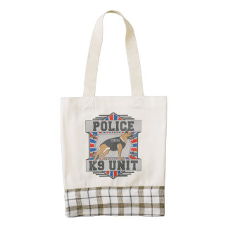 K9 Unit Police German Shepherd Zazzle HEART Tote Bag