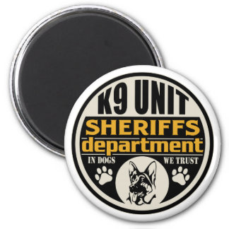 K9 Unit Sheriff's Department 2 Inch Round Magnet