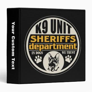 K9 Unit Sheriff's Department 3 Ring Binder