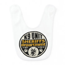 K9 Unit Sheriff's Department Baby Bib