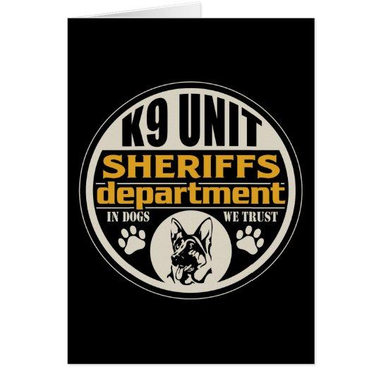 K9 Unit Sheriff's Department Card