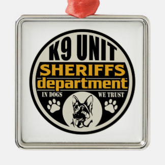 K9 Unit Sheriff's Department Metal Ornament