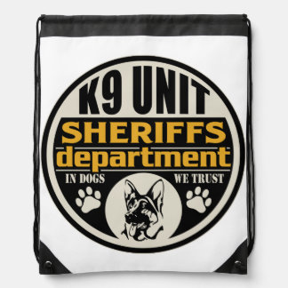K9 Unit Sheriff's Department Drawstring Bags