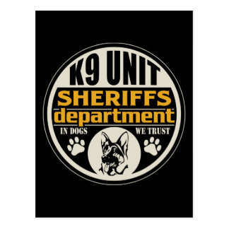 K9 Unit Sheriff's Department Postcard