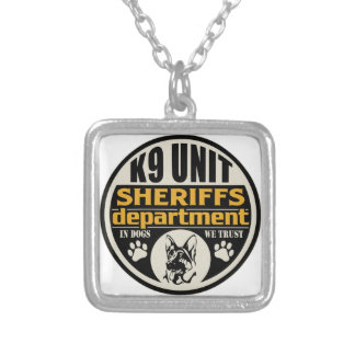 K9 Unit Sheriff's Department Silver Plated Necklace