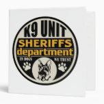 K9 Unit Sheriff's Department Vinyl Binders