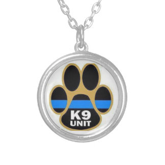 K9 unit silver plated necklace