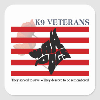 K9 Veterans Remembrance Day Stickers