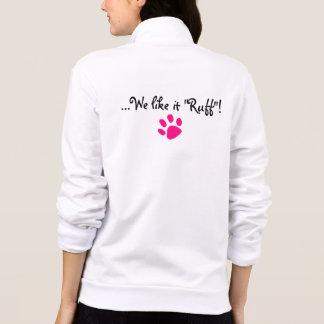 k9 wife fleece jogging jacket