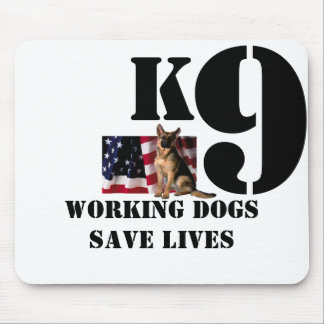 K9 Working Dogs Save Lives Mouse Pad