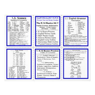 "K-12 Basics 24/7 - Crash Course - Pocket Pamphlet 8.5"" X 11"" Flyer"