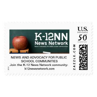 K-12 News Network stamps, large Postage