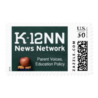 K-12 News Network stamps, medium sized Postage
