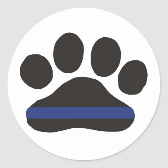 K-9 Blue Line Paw Sticker