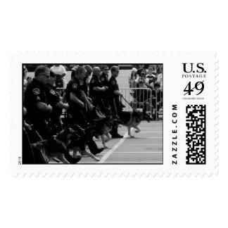K-9 demo Hero Thrill Show Postage Stamp