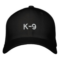 K-9 EMBROIDERED BASEBALL CAP