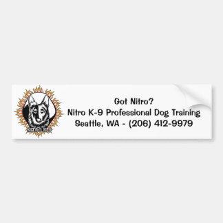 "K-9 nitro ""consiguió nitro?"" (Pegatina para el par Etiqueta De Parachoque"