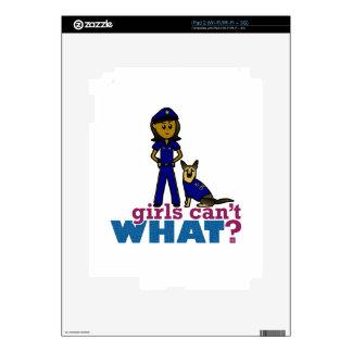 K-9 Police Woman iPad 2 Skin