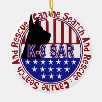 K-9 SAR ORNAMENT SEARCH AND RESCUE