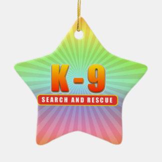 K-9 SEARCH AND RESCUE CERAMIC ORNAMENT