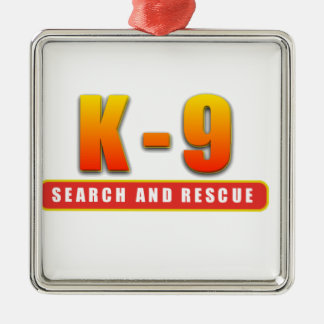 K-9 SEARCH AND RESCUE METAL ORNAMENT