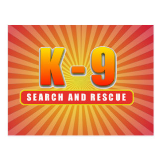 K-9 SEARCH AND RESCUE POSTCARD