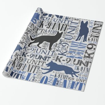 K-9 Unit  -Police Dog Unit Wrapping Paper