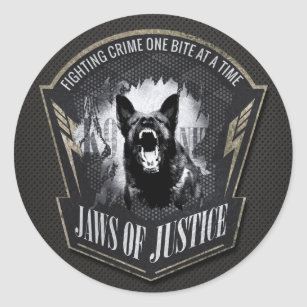 K 9 Unit Police Unit German Shepherd Classic Round Sticker