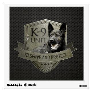 K-9 Unit  -Police  Unit- German Shepherd Wall Decal