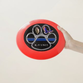 K-9 Unit Thin Blue Line Wham-O Frisbee