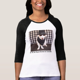 K-9s for Equal Access to Concerts T-shirts
