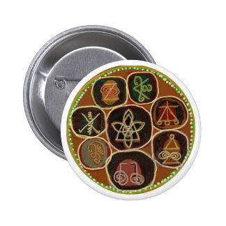 K A R U N    un emblema de Reiki Pin Redondo 5 Cm
