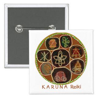 K A R U N    un emblema de Reiki Pin Cuadrada 5 Cm