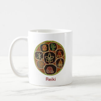 K A R U N    un emblema de Reiki Taza Básica Blanca