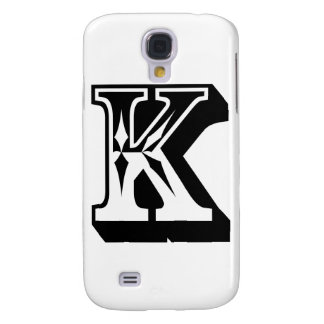 """""""K"""" Alphabet Letter Word Text Tee Galaxy S4 Covers"""