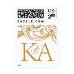 K and A gold monogram Stamp