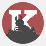 """K"" Ant Sticker - Small"