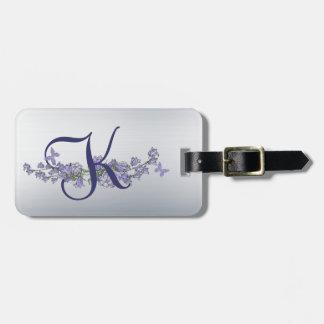 K - Belces y etiqueta azules del equipaje del mono Etiquetas Bolsas