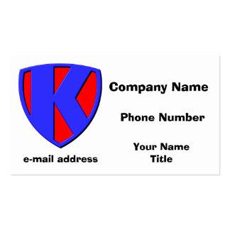 K BUSINESS CARD TEMPLATES