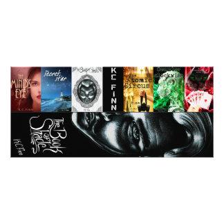 K.C. Finn new double bookmarks Rack Card Design
